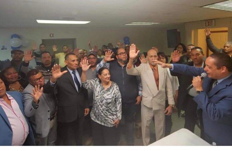 Coordinador circunscripción #1 PRM NYC George Robles juramenta comando campaña Massachusetts