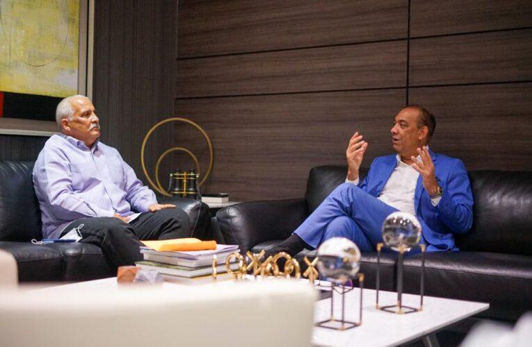Ministro Obras Públicas recibe a Jaime David Fernández Mirabal